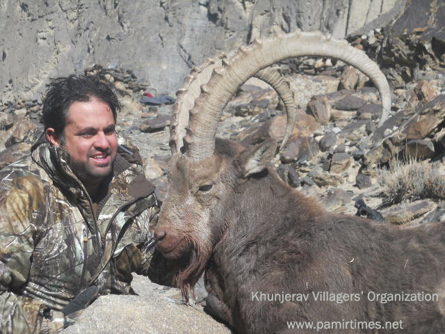 Licenses for trophy hunting of 4 Markhors, 80 Ibexes and 14 Blue Sheep issued