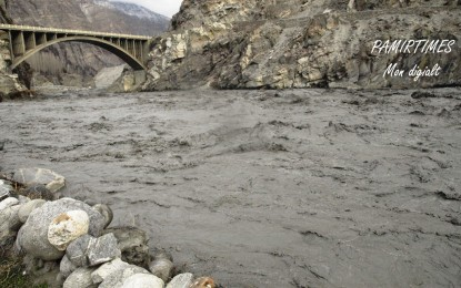 Discharged water reaches Gilgit without causing destruction, upstream water level dropped so far by 12 ft