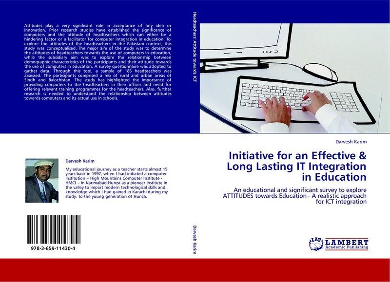 Darvesh Karim's book on IT integration in Education published