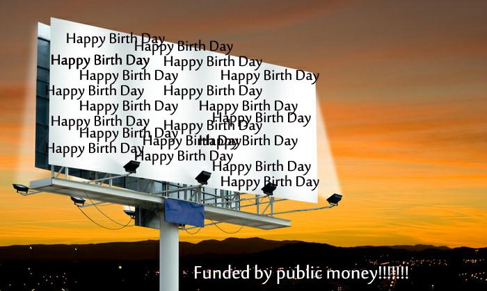 "GB: PPP spending public money on ""Happy Birthday"" advertisements"