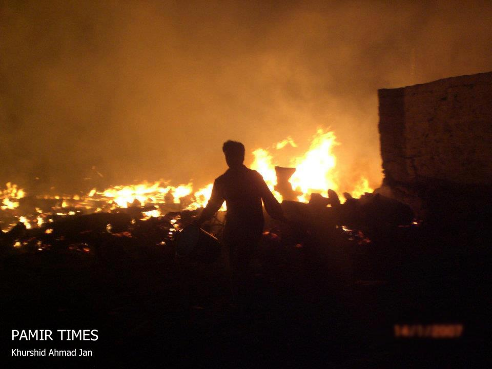 Chilas: Timber market gutted by unexplained fire