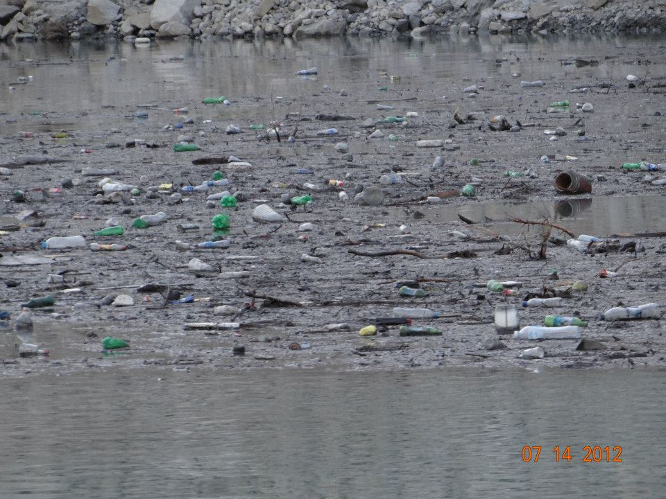 Cleanliness issues mar the dammed Hunza River