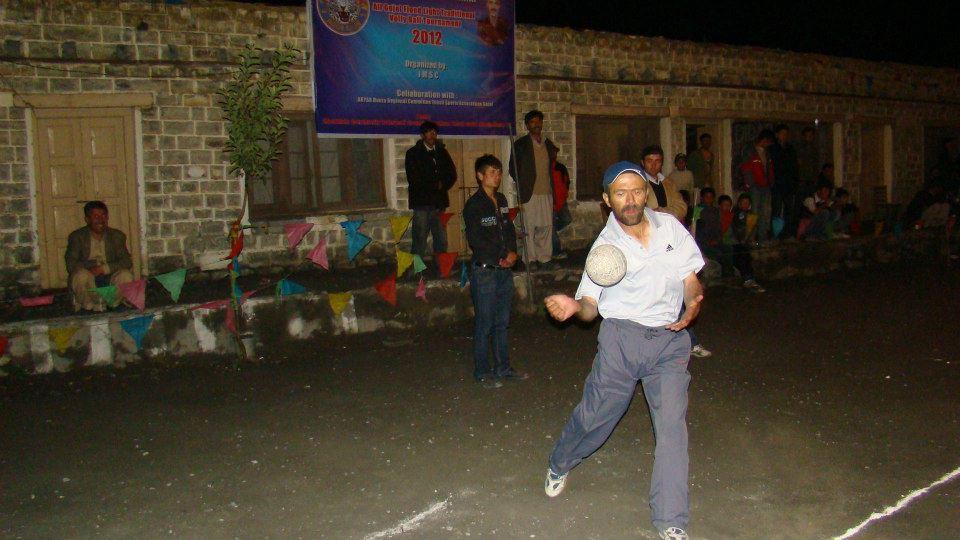 Moorkhoon: Floodlight volleyball tournament in progress