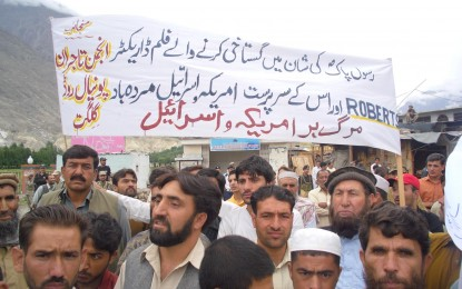 Protesters in Gilgit condemn anti-Islam film