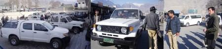 گلگت میں سرکاری گاڑیوں کو تحویل میں لیا جا رہا ہے
