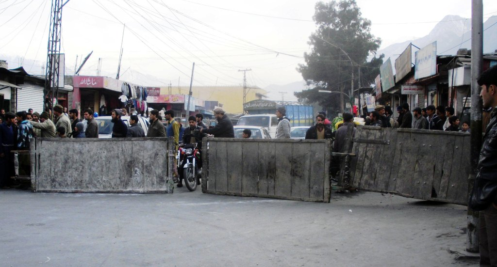 Protester had blocked roads in the Gilgit city