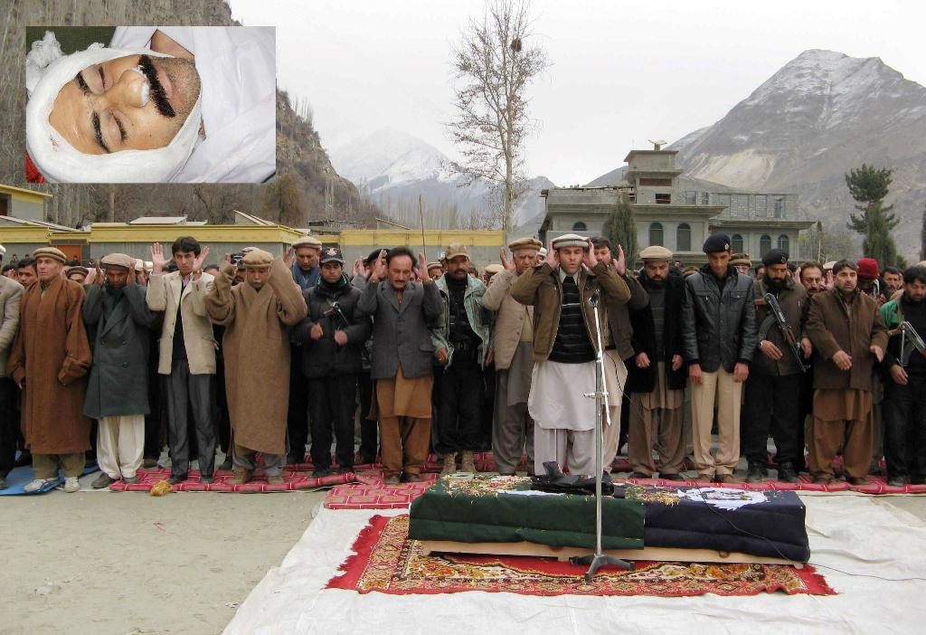 Altit: Funeral prayer of Shaheed Adil Karim is being offered