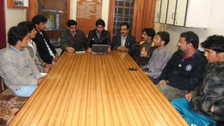 Hyderabad: Youth from Ghizer during a meeting