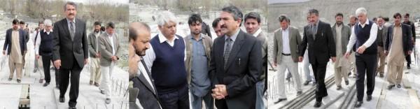 Chief Secretary visiting DanyoreKIU bridge