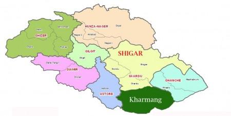 New administrative map of Gilgit-Baltistan