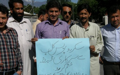 GB government asked to vacate office of Skardu Press Club, or face region wide protest