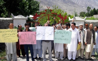 """Not paid for 12 months"", PTDC employees go on strike in Gilgit"