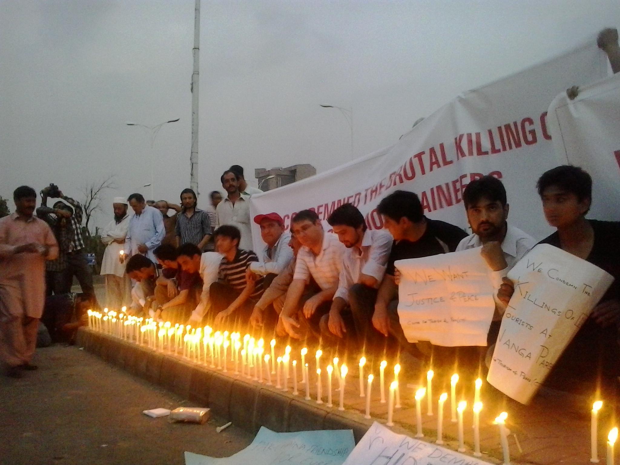 Islamabad: Candle light vigil held in memory of tourists slain near Nanga Parbat base camp