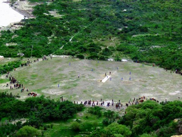 Aerial view of the Shehr-e-Sabz Cricket ground where the tournament was played