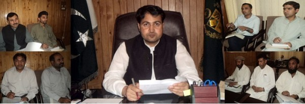 DC Gilgit is presiding a meeting to increase district revenue