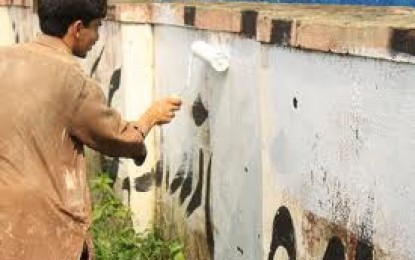 District administration bans wall-chalking in Gilgit