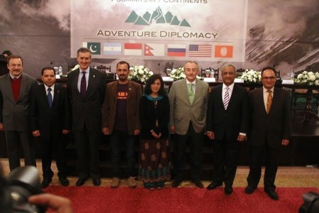 The 7 Summits in 7 Continents event has been supported by the Embassies of Argentina, Indonesia, Nepal, Russian Federation and USA, along with Serena Hotels. Photo: Suhail Ahmed