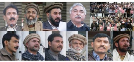 Speakers addressing a ceremony held on the death anniversary of Col (r) Hassan in GIlgit