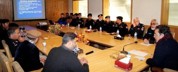 DIG Tufail briefing the Chief Minister about the GB Police