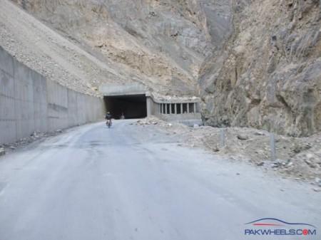 A tunnel on the KKH in the Khunjerav National Park