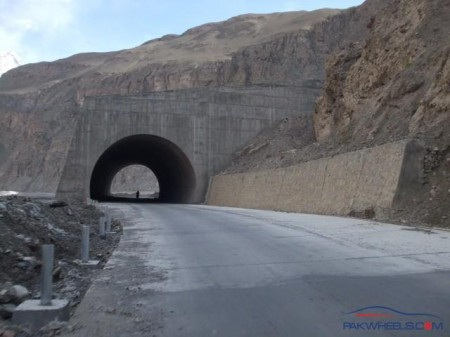Tunnel on the KKH on the Hunza-Nagar section
