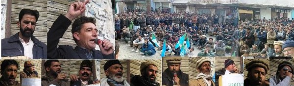 Protesters gathered in Dambudas, Rondu, demanded political and economic rights for GB. PR