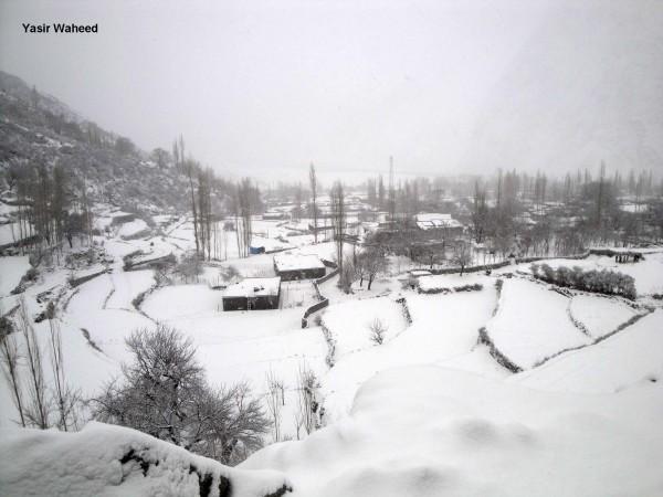 Snowfall in Gulmit Gojal (1)