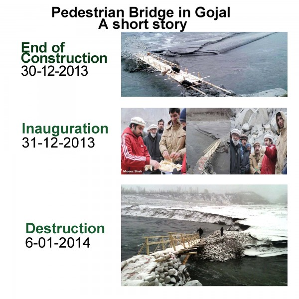 A short story of the pedestrian bridge constructed in Gojal Valley between Shishkat and Gulmit