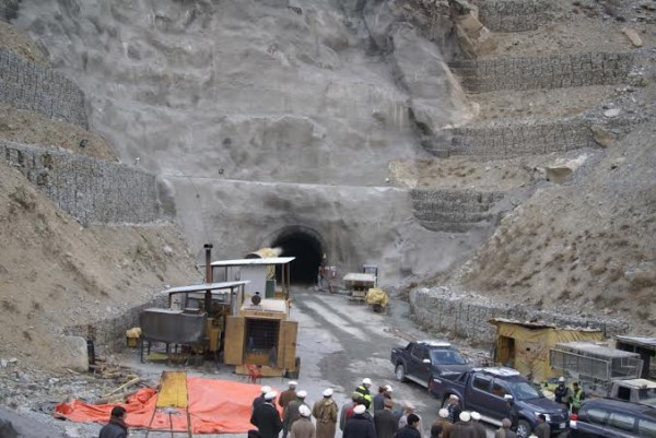 Chitral: Opening of a tunnel that is being constructed in the Golen Gol area of Chitral