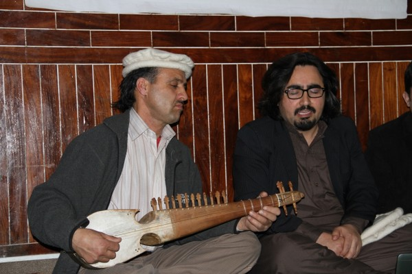 Fazal Rehman Shirin Sado and D.W.Baig performing during the condolence reference