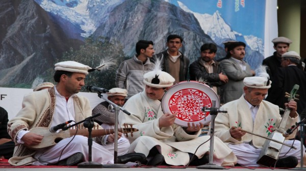 A Wakhi song is being presented by Fazal Rahman Shirin Sado