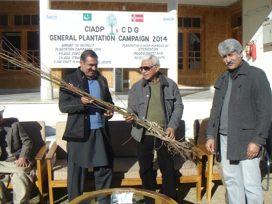 The plantation drive has been supported by CIAD