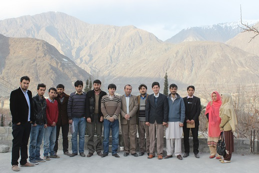 Group photograph of the training participants with the trainers and officials of AIM