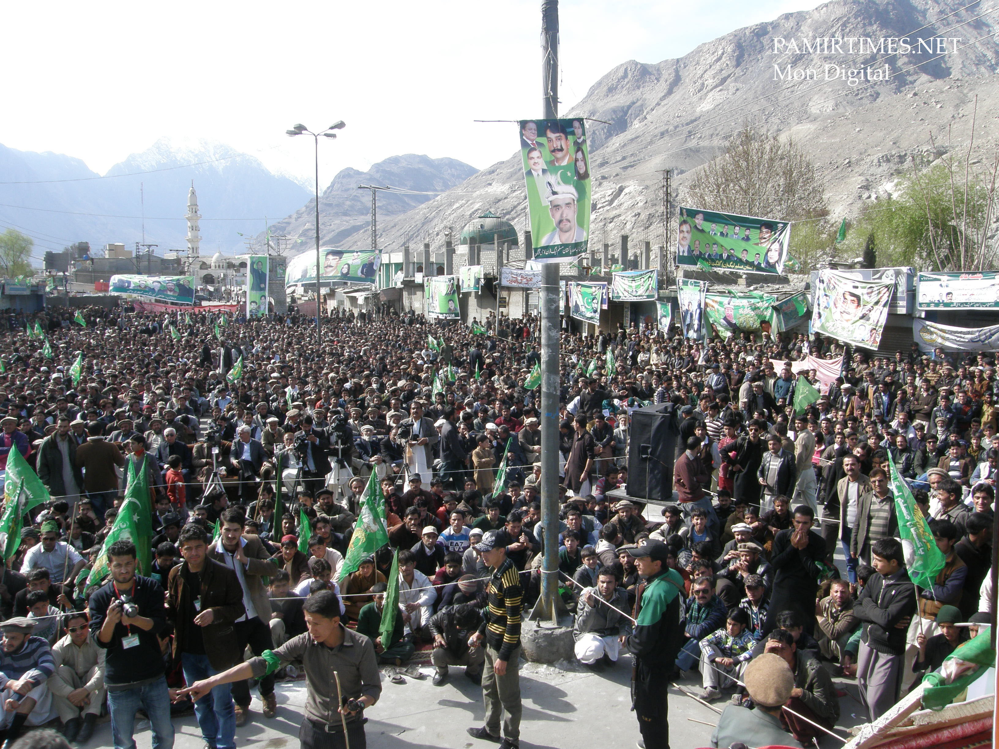 Thousands of people were present in the huge gathering