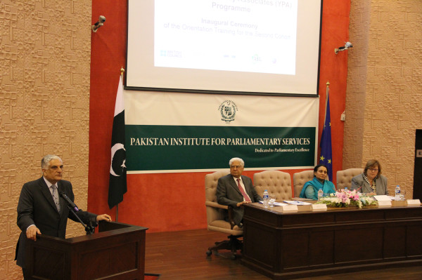 Islamabad: Federal Minter for Science and Technology addressing the inaugural ceremony. Four YPAs from Gilgit-Baltistan are part of the second cohort