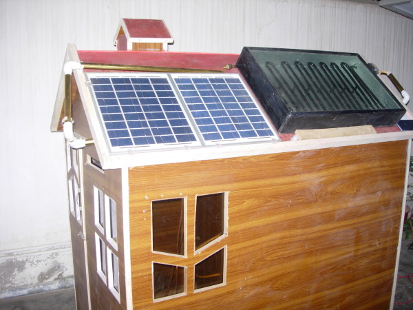 A closer look of the solar panel and the model