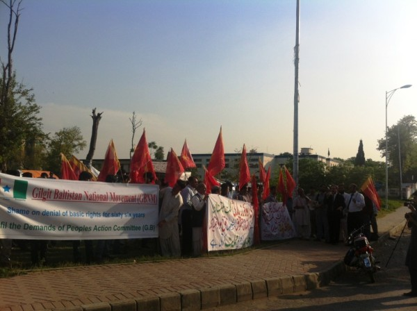 Protest organized by Awami Workers Party in Islamabad