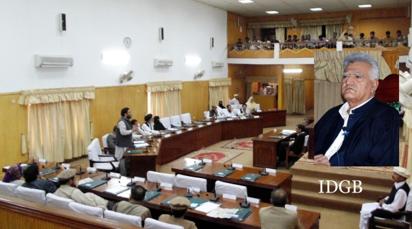 Speaker Wazir Baig chairing second day of the 35th session of the Gilgit-Baltistan Legislative Assembly.