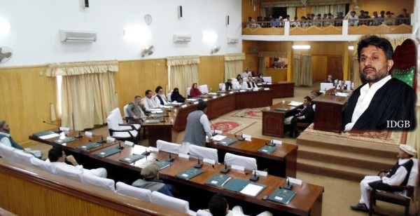 MLA Mutabiat Shah raised the issue of Hunza-Nagar district headquarters during the 6th sitting of the GBLA's 35th session