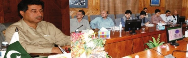 The meeting was chaired by Chief Secretary Gilgit-Baltistan, Sultan Sikandar Raja
