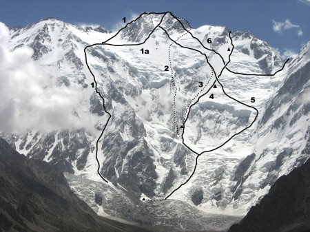 There are three routes to reach the base camp of Nanga Parbat