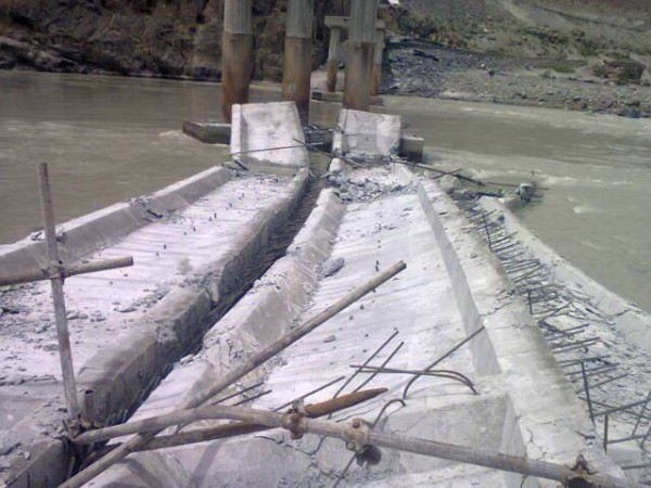 The collapsed bridge has been under construction since 2006