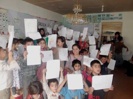 The activity involved children