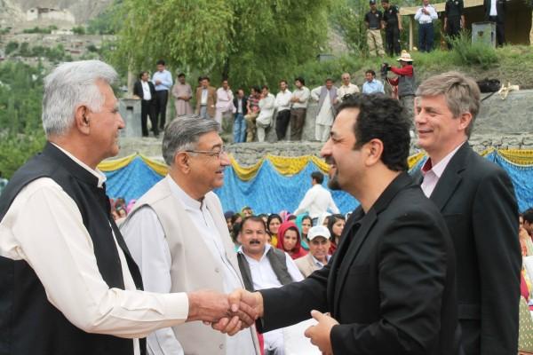 GBLA Speaker, CEO AKRSP, MLA Mutabiat Shah and the EU ambassador