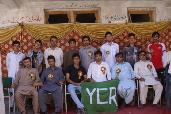 Participants posing at the end of the ceremony