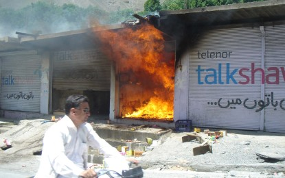 Shop gutted in Chitral, Fire Brigade fails to reach on time