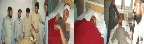 Chilas: The injured have been shifted to the DHQ hospital Chilas where they are reportedly out of danger. Photo: Tahir