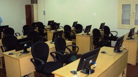 Interior view of the computer lab