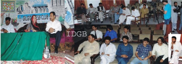 Gilgit: GB information Minister, Sadia Danish briefing journalists about boycott of the Shandur Festival at a conference held in the Gilgit Press Club