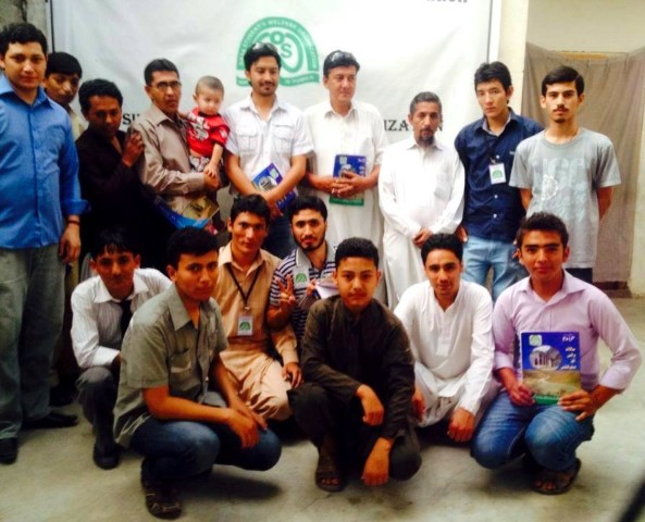 Members of the Siska Youth pose after the launching of the Voice of Students